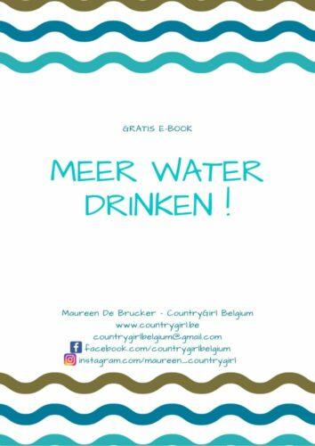 Water drinken … zoooo belangrijk !