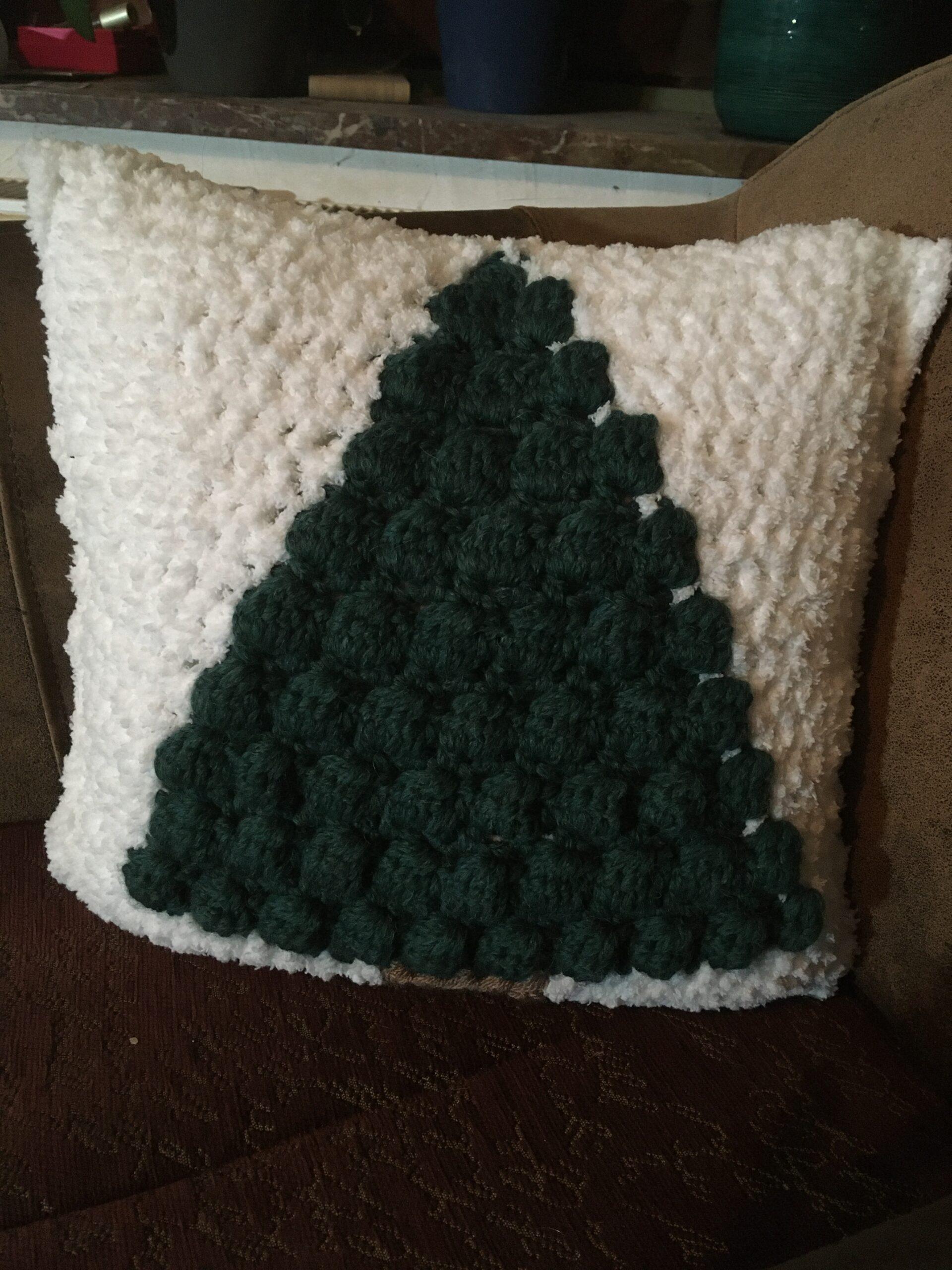 Kerstboom-kussen (met dennengeur)